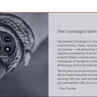 Google compra el sistema operativo Cronologics OS para mejorar a Android Wear