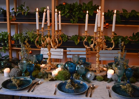 Mesa de Navidad sofisticada