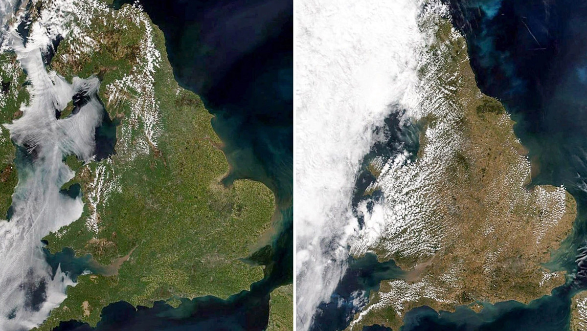 Britain used to be green. Used to. (MET Office)