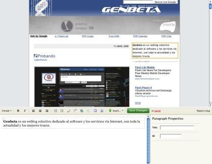 Typeroom, modifica los contenidos de un sitio web