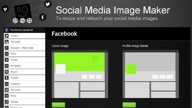 Crea imágenes con los tamaños apropiados para cada red social con Social Media Image Maker