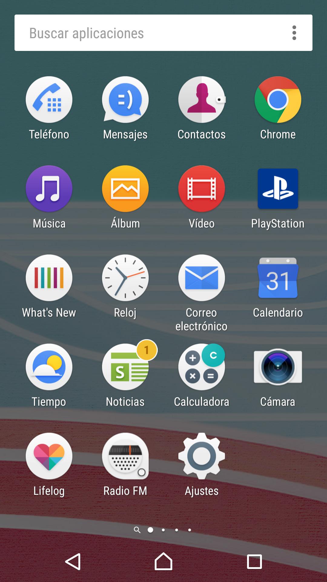 Interfaz Sony Xperia X