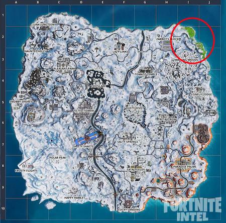 La nieve se está derritiendo en el mapa de Fortnite y volveremos a ver el escenario previo a la gran nevada
