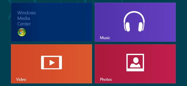 Windows Media Center, Música, Vídeo y Fotos