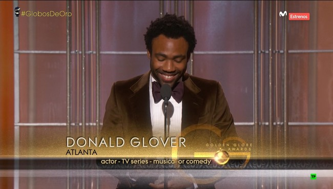 Donald Glover At The Golden Globes 2017