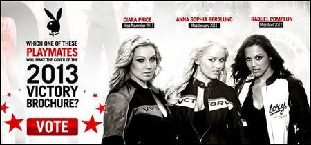 Victory Motorcycles y Playboy se unen para la creación del catálogo 2013