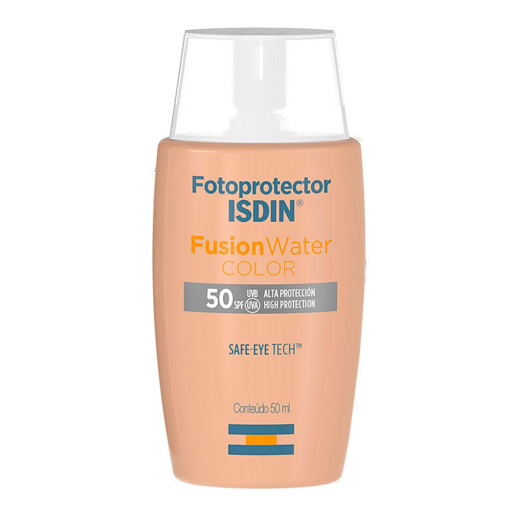 Crema facial con fotoprotección 50 Fusion Water Color de Isdin