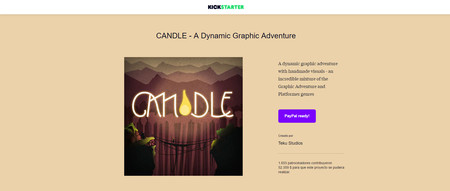 Kickstarter Candle