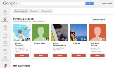 """Google Plus cambia el nombre de sus círculos por """"Encontrar personas"""""""