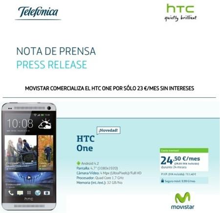 Nuevos precios reales del HTC One con Movistar