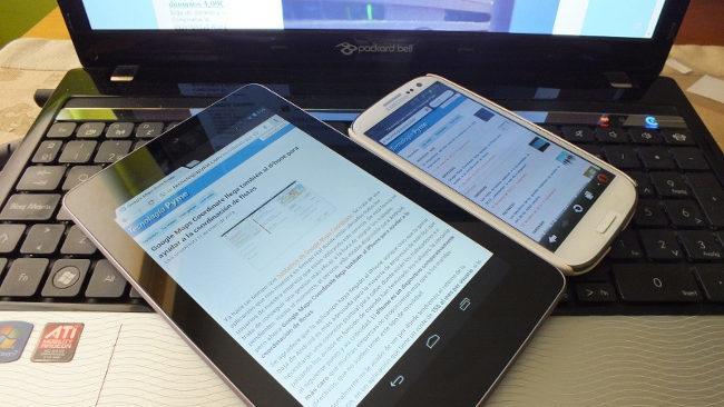 Distintos tipos de tablets y dispositivos