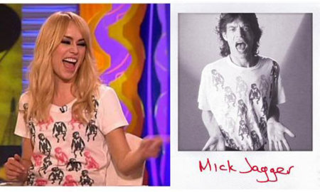 Patricia Conde comparte camiseta con Mick Jagger