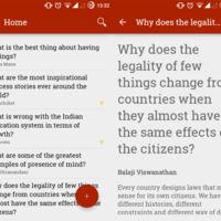 Si usar Quora, os enseñamos cómo organizar en Android tus mejores preguntas y respuestas