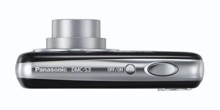 Vista cenital Panasonic Lumix DMC-S3 negra