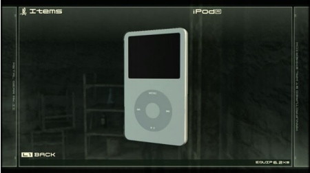 Snake utiliza un iPod en el nuevo Metal Gear Solid