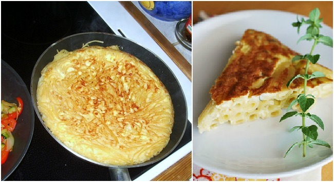 Tortilla de pasta o frittata
