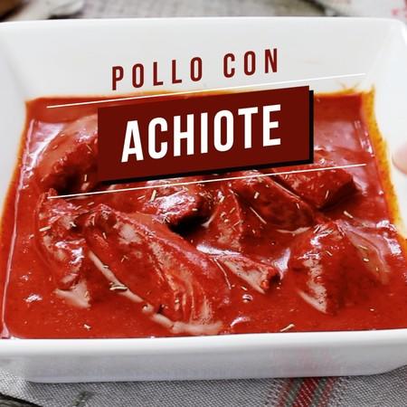Pollo con achiote. Receta mexicana fácil
