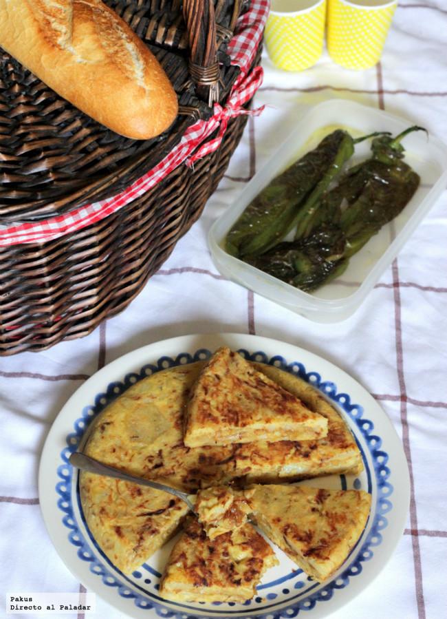 Tortilla de patata y cebolla confitadas para el día de San Isidro
