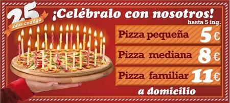 En Telepizza están de aniversario, ¿conoces los precios?