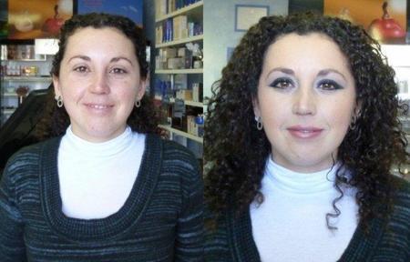 Maquillaje: el antes y el después de un maquillaje completo en una foto