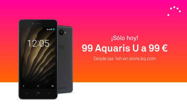 Oferta Flash: smartphone BQ Aquaris U (16GB+2GB) por sólo 99 euros durante el día de hoy