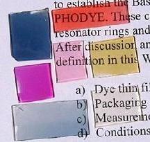 Chips cambiantes de color para detectar la contaminación