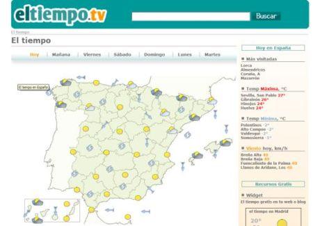 Eltiempo.tv, nuevo recurso para consultar la previsión del tiempo en España