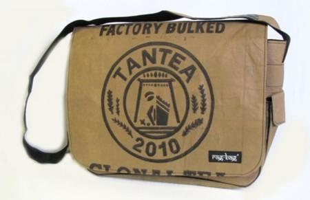 Bolsas de té recicladas para llevar al hombro