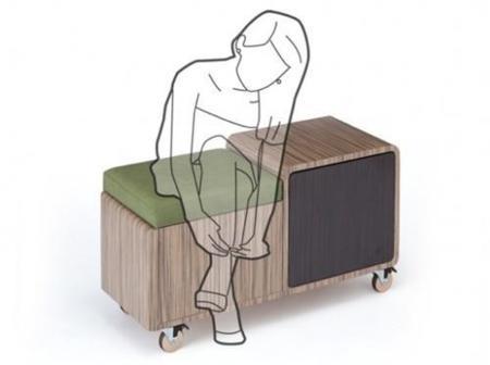 Mueble zapatero con asiento, ideal para el hall