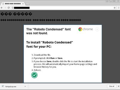 Cuidado con las webs que te piden instalar una tipografía que falta en tu ordenador, la fuente es un troyano