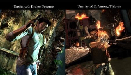 'Uncharted 2: Among Thieves' y 'Uncharted' comparados