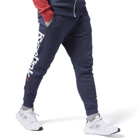 Pantalon De Chandal Training Essentials Logo Azul Ej9869 01 Standard