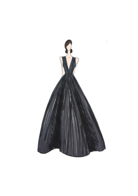 Vestido Malena Alterio Goya 2020 Esther Noriega