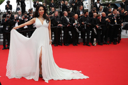 Mallika Festival de Cannes look vestido