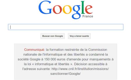 Google condenado en Francia a vergüenza pública