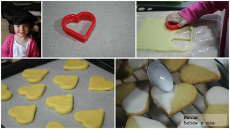 galletas de corazones pasos