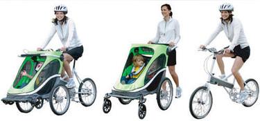 """Zigo Leader una bicicleta """"tres en uno"""" para llevar a los niños"""