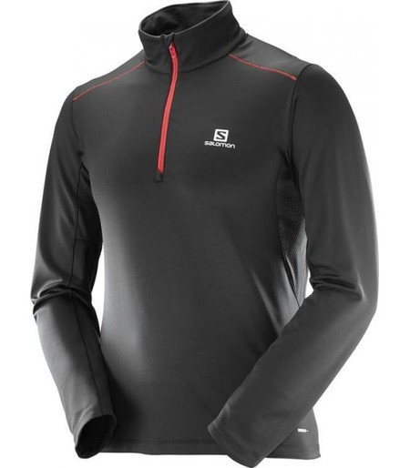 Camiseta Salomon Agile Warm Hz Mid Negro