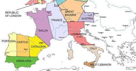 Así serían las fronteras de Europa si las hubiera dibujado un colonizador europeo