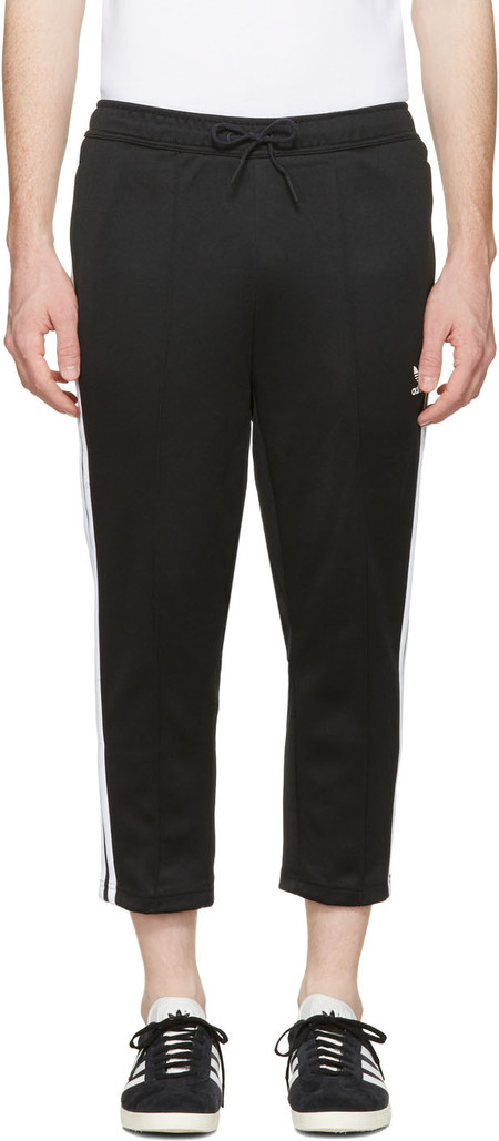 Adidas Originals Black Sst Crop Lounge Pants