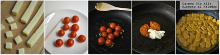Paso a paso gnocchi de polenta al pesto rosso