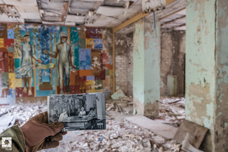 Pripyat Then And Now Post Office 01
