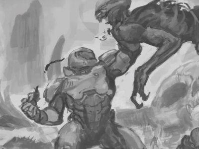 Así se dibujó la espectacular portada alternativa de Doom