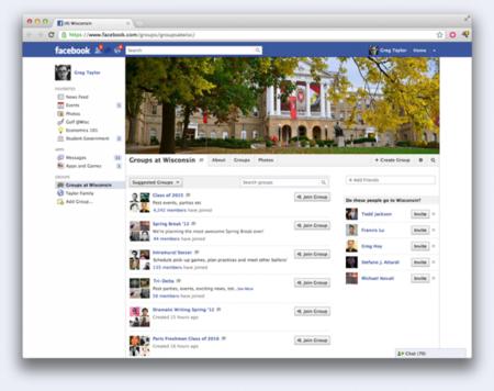 Facebook crea grupos para instituciones educativas