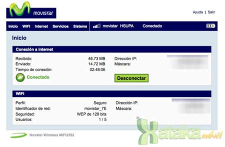 MiFi 2352 de Novatel Movistar