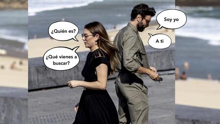 La primera vez de Blanca Suárez y Javier Rey en público, en la playa de la Concha y jugando a que no se conocen espalda con espalda, cachete con cachete