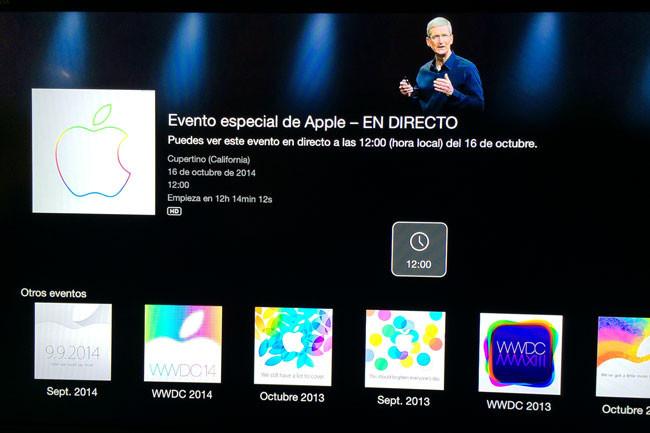 Ya está listo el canal de eventos especiales en Apple TV para la #ApplesferaKeynote16O