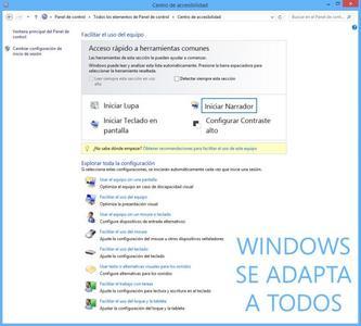 Windows accesible para todos: así es el centro de accesibilidad