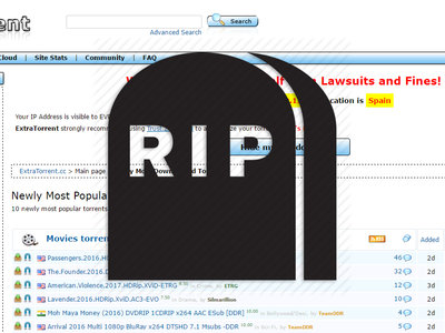 Siguiendo el mismo destino de KickassTorrents, ExtraTorrent también ha muerto