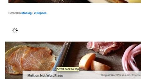 Wordpress.com habilita el scroll infinito por defecto para todos sus usuarios